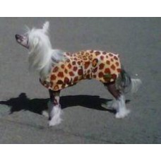Chinese Crested  Printed Double Fleece dog coat